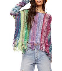 radiant knit striped pullover