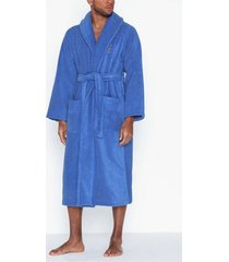 polo ralph lauren shawl collar robe morgonrockar blue