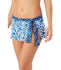 women's tommy bahama woodblock skirted hipster bikini bottoms