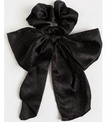 kae full bow hair scarf - black