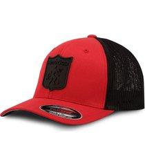 gorra américa de cali oficial flexfit 6511t rojo/negro