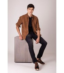 jeans lavado oscuro para hombre semifitted