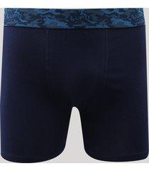 cueca boxer masculina lupo camuflada azul marinho