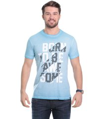 camiseta javali azul born - kanui