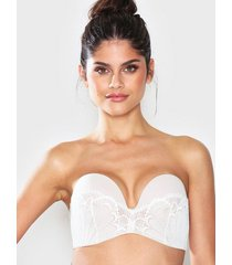 wonderbra glamour perfect strapless bra bandeau & soft-bra ivory