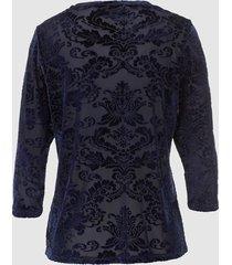 blommönstrad topp dress in marinblå