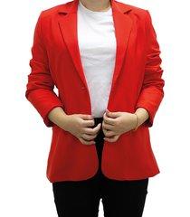 blazer rojo design plus