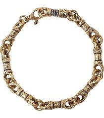 john varvatos mixed link bracelet in gold at nordstrom