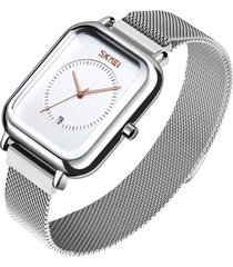 relojes mujer correa malla lujo reloj cuarzo vestido pulsera
