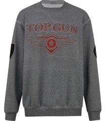sweatshirt top gun grijs