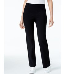 style & co petite tummy-control bootcut yoga pants, created for macy's