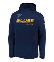 majestic st. louis blues men's locker room rink hoodie