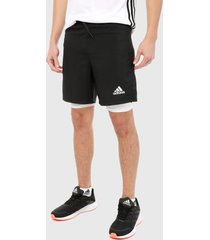 pantaloneta negro adidas performance activeted tech