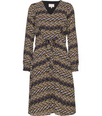 faya dress knälång klänning brun minus