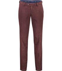 portofino pantalon bordeaux flatfront