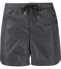 orlebar brown drawstring waist swim shorts - grey
