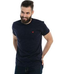 camiseta d'affari em meia malha diferenciada botonê masculina - masculino