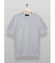 mens premium light grey knitted sweater