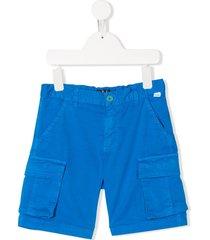 il gufo straight-leg cargo shorts - blue