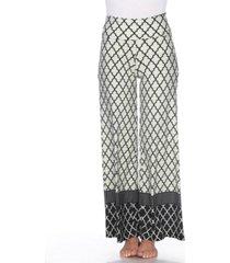 white mark moroccan print palazzo pants