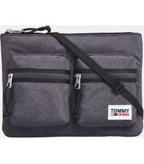 tommy hilfiger men's tj tech satchel black -