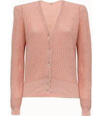 bellerose cardigan in cotone rosa