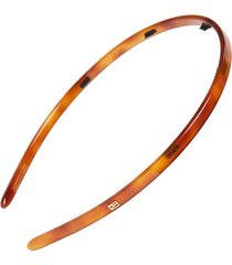 alexandre de paris thin headband, size one size - brown