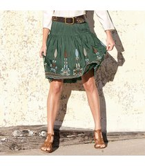 embroidered ethnic skirt