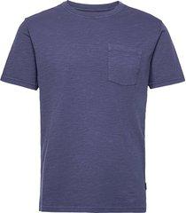 outwashed pocket tee t-shirts short-sleeved blå sebago