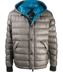 moncler grenoble padded winter jacket - grey