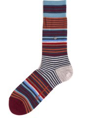 burlington socks multi stripe socks 21057-6688