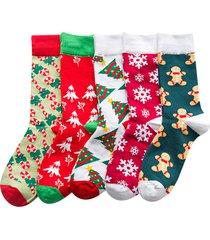 mid-tube cotton cartoon calze christmas gift calze soft warm breathable e deodorant calze