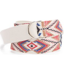 women's isabel marant nyess geo embroidered woven belt
