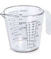 jarra acrílico medidora 600 ml incolor