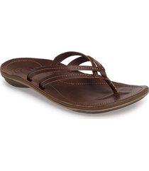 women's olukai 'u'i' thong sandal, size 9 m - brown
