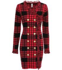 abito in maglia con bottoni dorati (rosso) - bodyflirt boutique