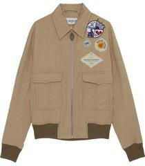 harrington jacket met patches