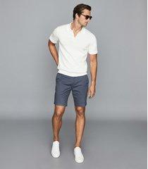 reiss wicket - casual chino shorts in airforce blue, mens, size 38