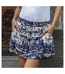 rayon shorts, 'caribbean paradise' (indonesia)