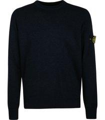 stone island logo patch plain sweatshirt
