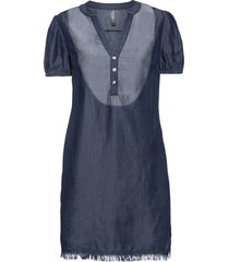 abito oversize di jeans in tencel™ lyocell (blu) - rainbow