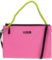 msgm logo clutch bag