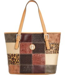 giani bernini patchwork tote, created for macy's