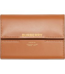 burberry horseferry-print wallet - brown