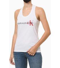blusa regata feminina nadador branca calvin klein jeans - pp
