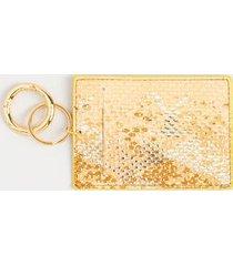 delisa snake print card case - gold