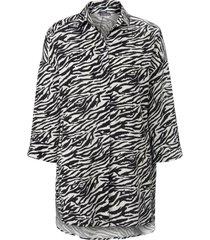 lange blouse lange mouwen van samoon zwart