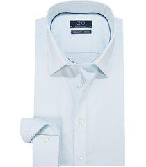 profuomo 2.0 super slim fit stretch overhemd met lange mouwen blauw