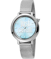logo stainless steel bracelet watch