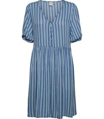ihmarrakech aop dr7 kort klänning blå ichi